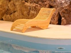 Sdraio da sauna di abete spazzolato naturale