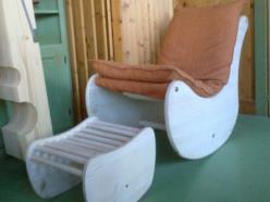 Sedia Relax con poggia-piede e imbottitura lavabile
