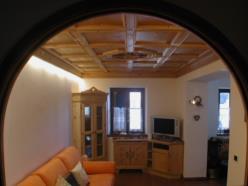 Soffitto a cassettoni in legno di abete