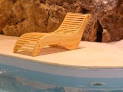 Sdraio Sauna  in abete a finitura naturale
