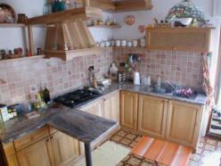 cucina in rovere a finitura naturale