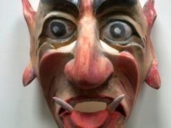 """kheirar - maschera """"caricaturale"""" tipica di sauris 1"""