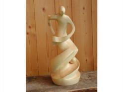 """""""Volteggiando nel vento"""": scultura in  legno di cirmolo a finitura naturale"""